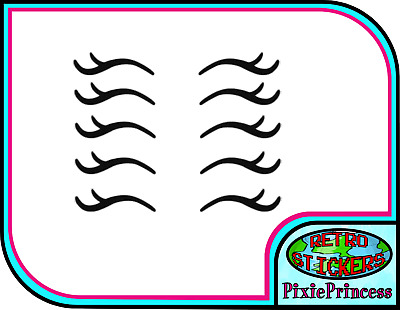 Unicorn Eyelashes Lashes Stickers G Decal Crafts DIY Baubles Wall Size /& Packs