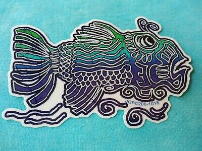 Grateful Dead Jerry Garcia Fish 5.5 x 3.5 Inch Window Sticker