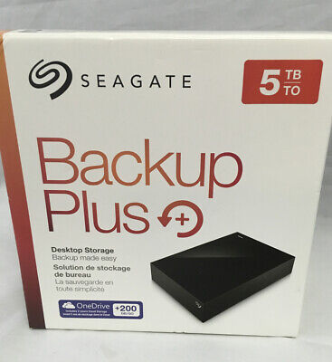 Seagate Backup Plus Hub 5TB External Desktop Hard Drive Storage (STDT5000100)
