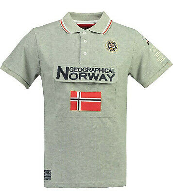 T-shirt Canadian Peak Jobias By Geographical Norway Uomo 100/% cotone maglia mani