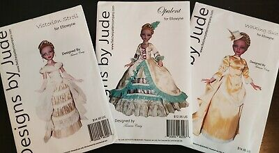 """Worth chateau Toilette Victorian sewing doll dress pattern sizes 16/"""" 18/"""" /& 20/"""""""