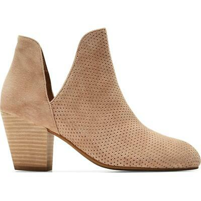 Cole Haan Womens Hollyn Leather Ankle Block Heel Booties Shoes BHFO 3931