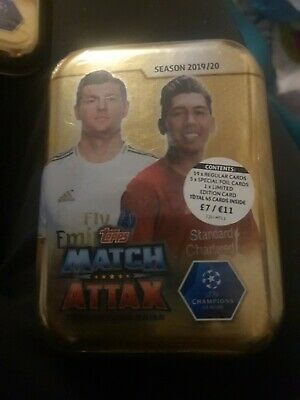 Topps Match Attax Season 2019/20 Trading Card Mini Tin Football Still Sealed