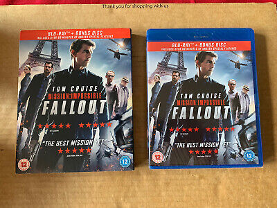Mission Impossible 6 Fallout Blu Ray New & Sealed + Slipcase Tom Cruise - 2 Disc