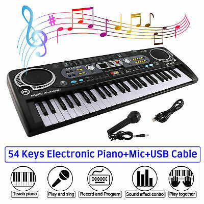 Musical Keyboard Piano 54 Keys Electronic Electric Digital Beginner Adult Gift