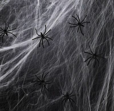 350sqft Fake Spider Web with 30 Fake Spiders for Halloween Decorations Indoor and Outdoor