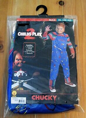 Chucky Costume And Mask Child's Play 2  - Size XL (40-42) Adult Men's
