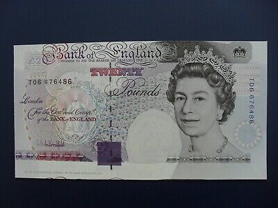 Error With Design Misplaced/Miscut 1991 Kentfield (Gb/England) £20 Banknote Unc