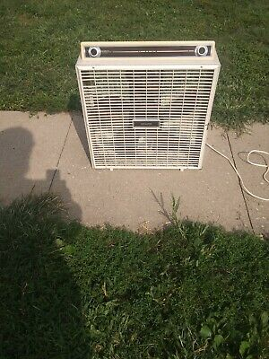 """Vintage Sears 3 Speed 20"""" Box Fan with Thermostat"""