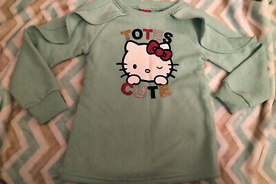 "Preowned Sanrio Hello Kitty Sweatshirt ""Totes Cute"" (size 4T)"
