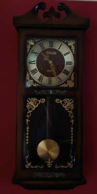 "Antique ""President"" Chiming Mechanical 31 Day Wall Clock"