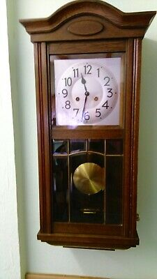 Antique 8 Day Chime Quality oak Wall Clock