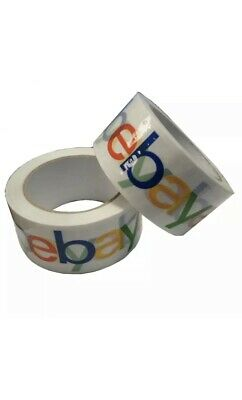 2 ROLLS! 4-Colour eBay Branded Extra-Strong Parcel Packing Packaging Tape