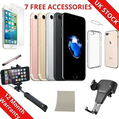 Apple iPhone 7- 32GB/128GB/256GB All Colours UNLOCKED Various Grades Accessories
