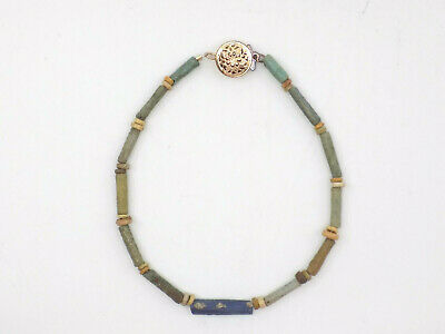 Ancient Egyptian Faience Bead Bracelet