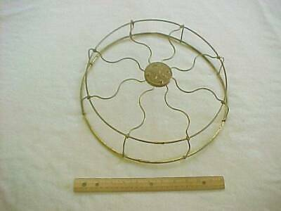 Vintage 13 inch Brass GE Electric Fan Cage Cover Guard Only