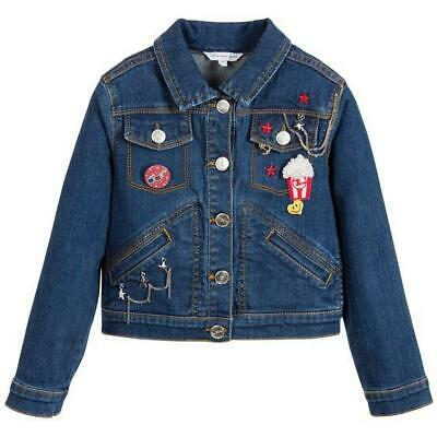 Little Marc Jacobs Kids Girls Embroidered Denim Jacket 6 Years