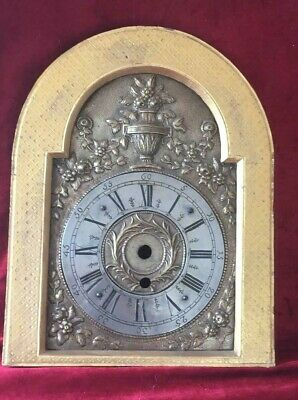Nice Brass Continental Arched Clock Dial And Surround