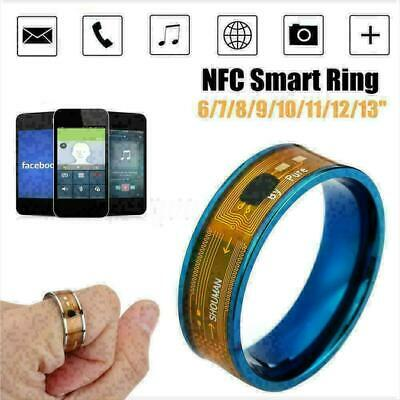 2019   NFC Smart Ring Stainless Steel Wearable Mobile Phone For All And B8X6