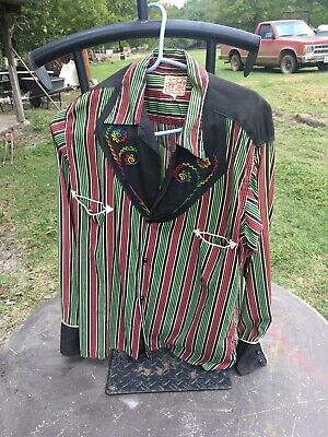 Cowboy Joe Men's embroidered Country western Style shirt VTG