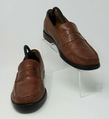 Cole Haan Men's Sz 9.5 Pinch Friday Penny Contemporary Loafer Leather Cognac