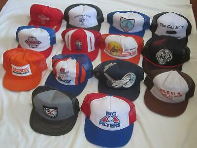 Vintage Trucker Hat Mixed Lot Of 14