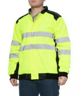 AW Direct Class 3 High Visibility Work Jacket Fleece Insulated 2XL NWT