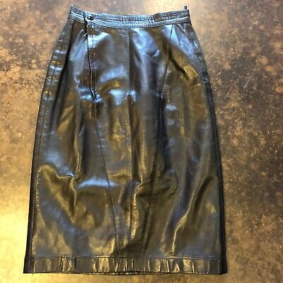 Alaia black leather Mini skirt XS