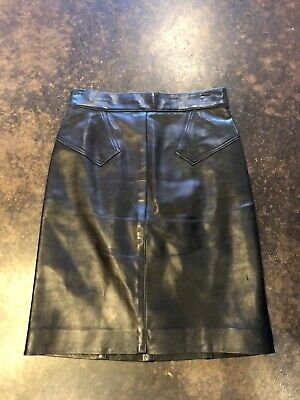 Alaia black leather Mini skirt XS 38