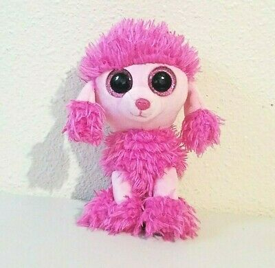 """6/"""" New MWMT Patsy Ty Beanie Boo pink poodle"""