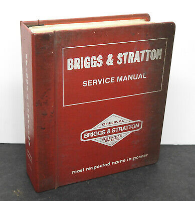 Vintage Briggs & Stratton Engine Dealer Service Manual 1981 1991 MS-6240