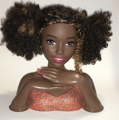 Barbie Color Style Deluxe Styling Head With Curly Hair African American 1 00 Picclick