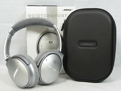Bose QuietComfort 35 Wireless Headphones Acoustic Noise Cancelling Silver Box