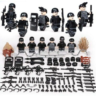 car building blocks fit lego 12pcs SWAT Military Special Forces Army Minifigure