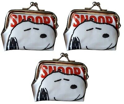 2 x Peanuts Snoopy Charlie Brown Petite Small Cute Coin Change Purse NEW