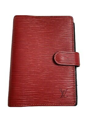 💥Louis Vuitton Diary Cover Agenda PM Red Epi Leather CA1917