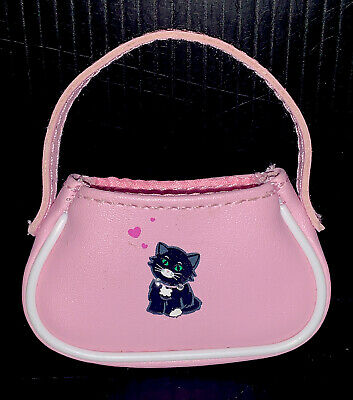 American Girl Licorice Best Friend Outfit 2005 Pink Purse with Cat for Doll Only