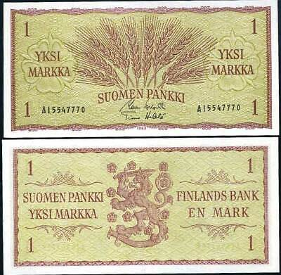 Finland 1 Markka P 98 a 1963 UNC Low Shipping Combine FREE 98a