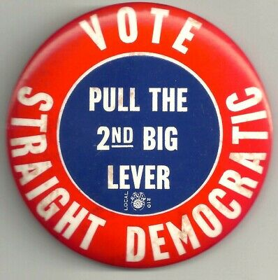 Vintage 1940s I'm Voting Republican Political Fold Over Pin 5-pcs