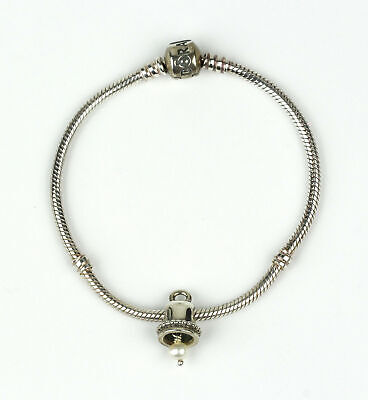 Pandora Sterling Silver Charm Bracelet With Retired Wedding Bell Charm 790517p Eur 73 86 Picclick Fr