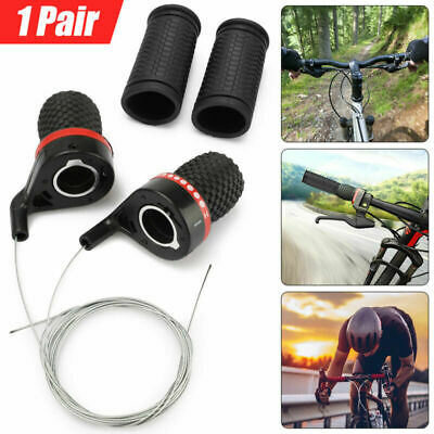 1Pair 21 Speed Gear Handlebar Shifter Bicycle Mountain Bike Cycle Grips Usefully