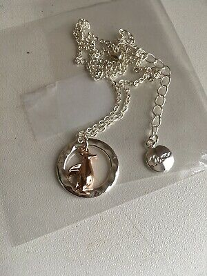 SILVER PLATED CRINKLE TEXTURED DISC ON LONG CHAIN POM Boutique