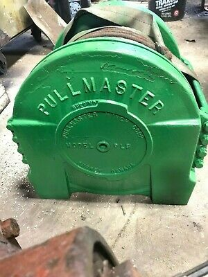 Pullmaster Pl-8 Hydraulic Winch -- We Can Help With Shipping