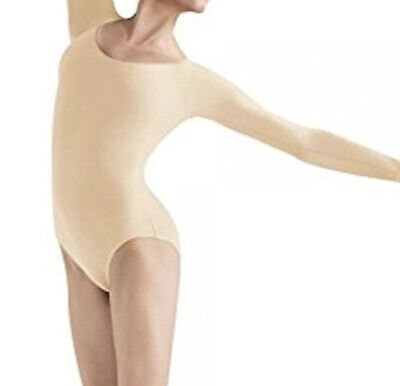 Vintage Bloch L5409 Women/'s Petite//Extra Small Black Long Sleeve Leotard 2-4