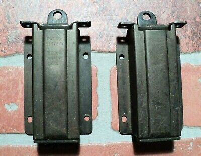 Vintage Pair of Butterfly Hinges Black Cabinet Hardware Farmhouse Rustic 2