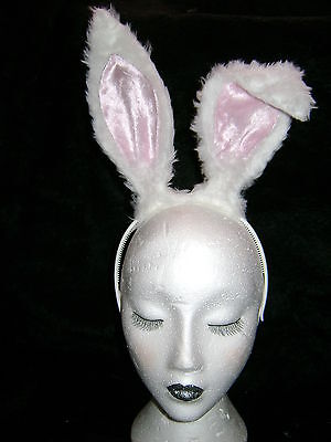 Hare Ears /& White Bob Tail Bright Pink Instant Fancy Dress Bright Pink Rabbit