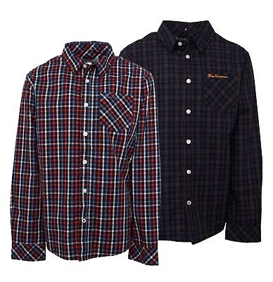 Boys Ben Sherman Long Sleeve Button Down Shirt Sizes Age from 8 to 15 Yrs