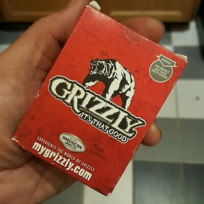 Grizzly Tobacco Promotional Deck Of Playing Cards and Poker Chip