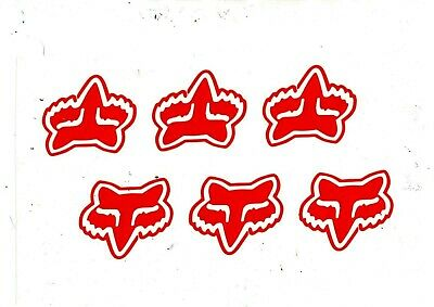 2 FOX BMX MTB Stickers Printed Cycling Decals Frame Forks Wheel Helmet bike Haro