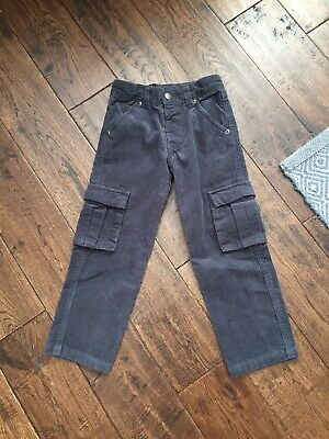The White Company Grey Cord Cargo Trousers Age 2-3 Years Hardly Worn